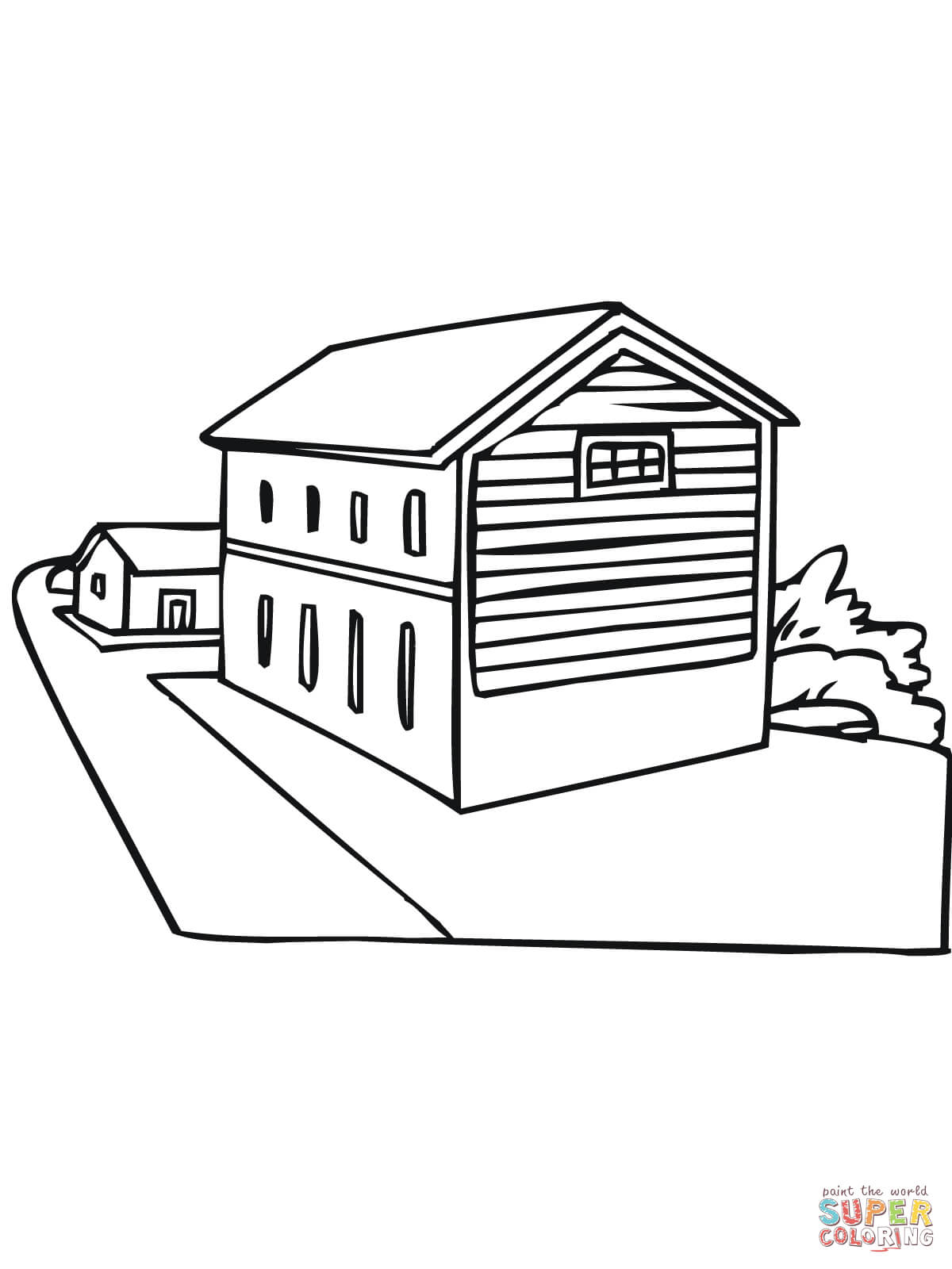 Norway Typical House Coloring Online