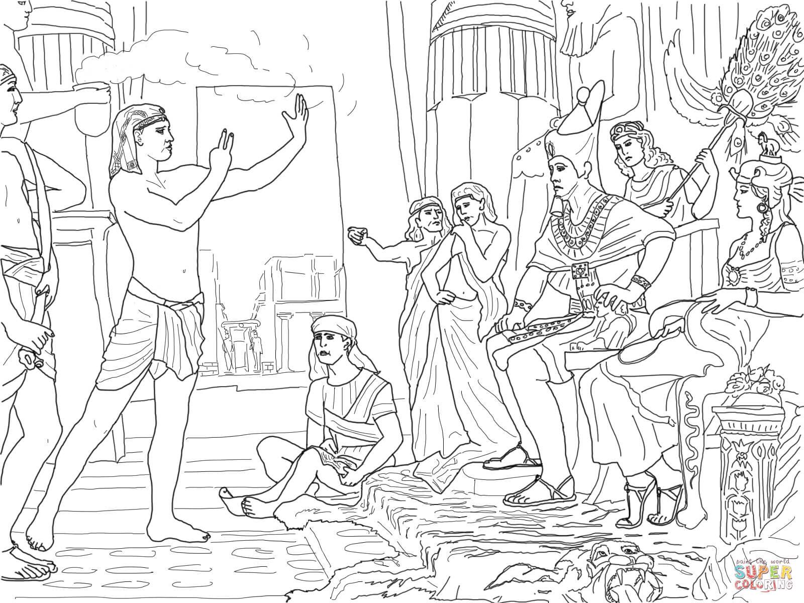 Joseph Interprets Dreams Coloring Page Coloring Pages