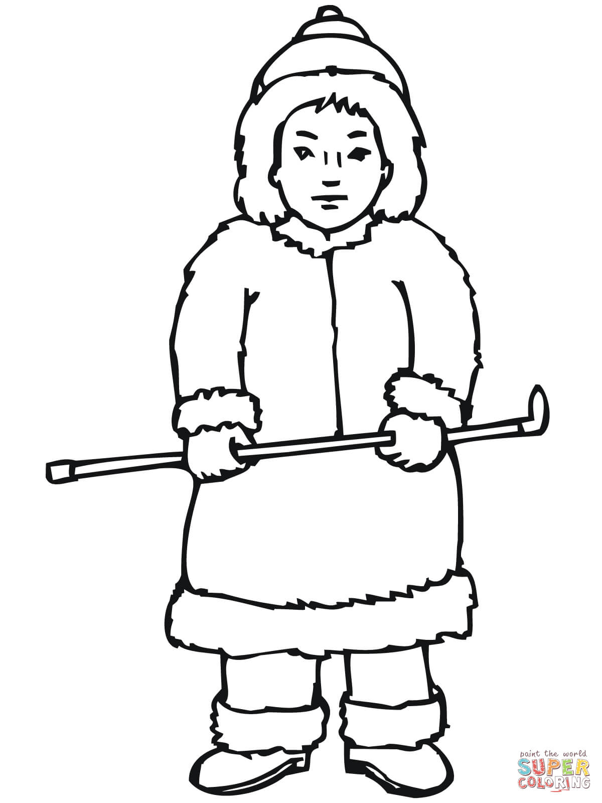 Inuit Boy Coloring Online