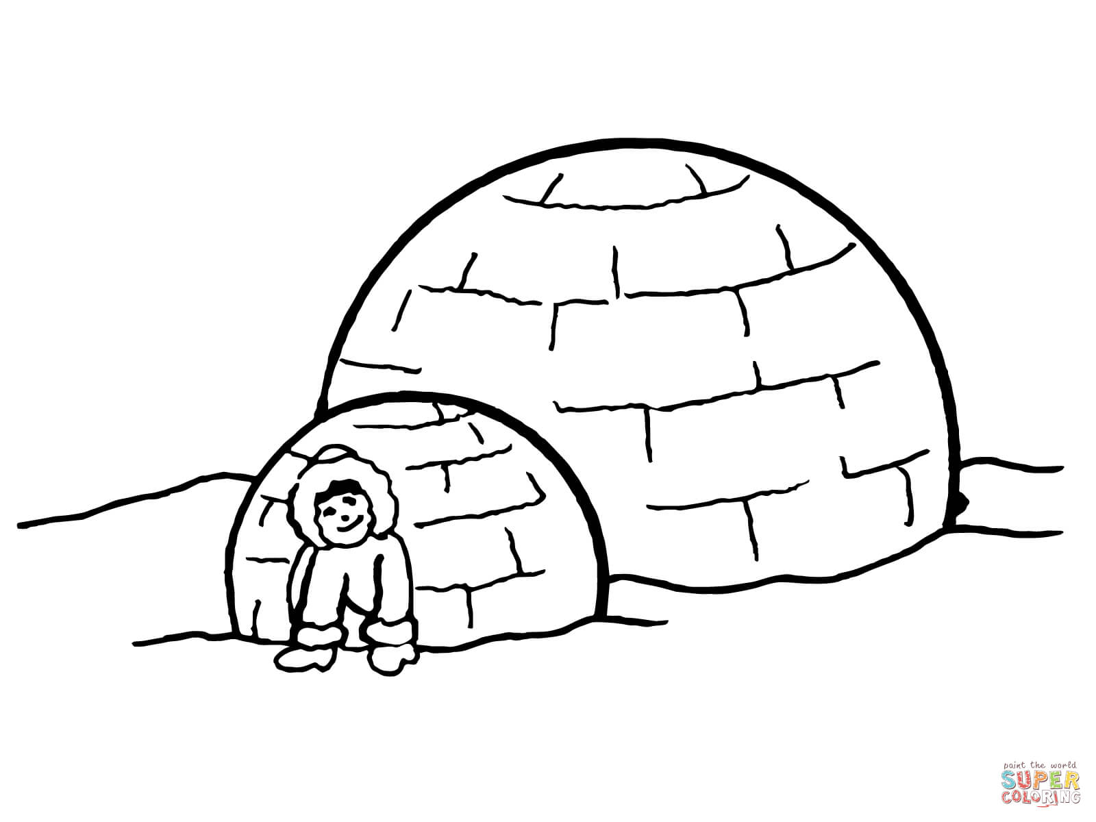 Igloo Coloring Pages Cake Ideas And Designs