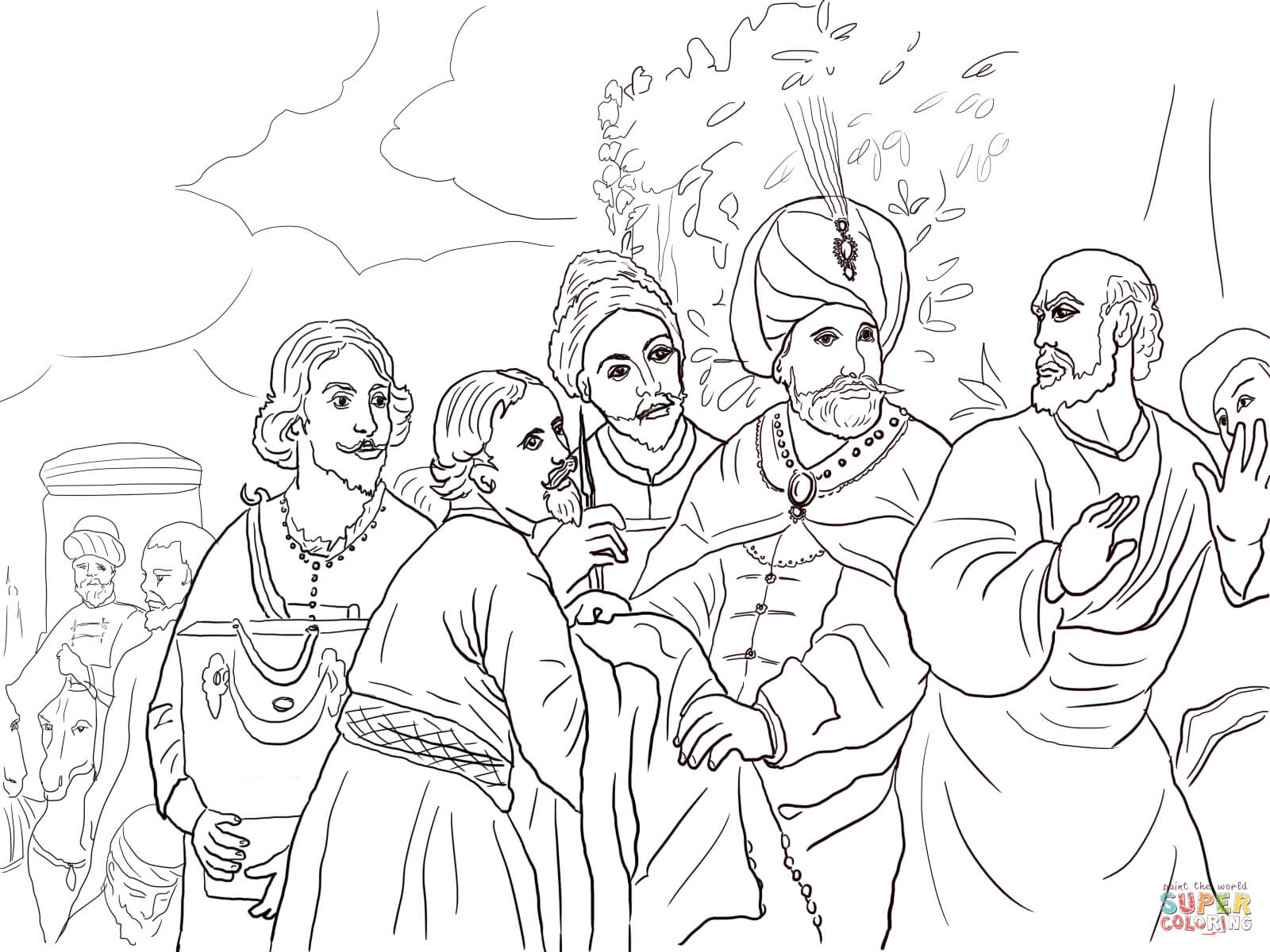 Coloring Picture Of Naaman Coloring Pages
