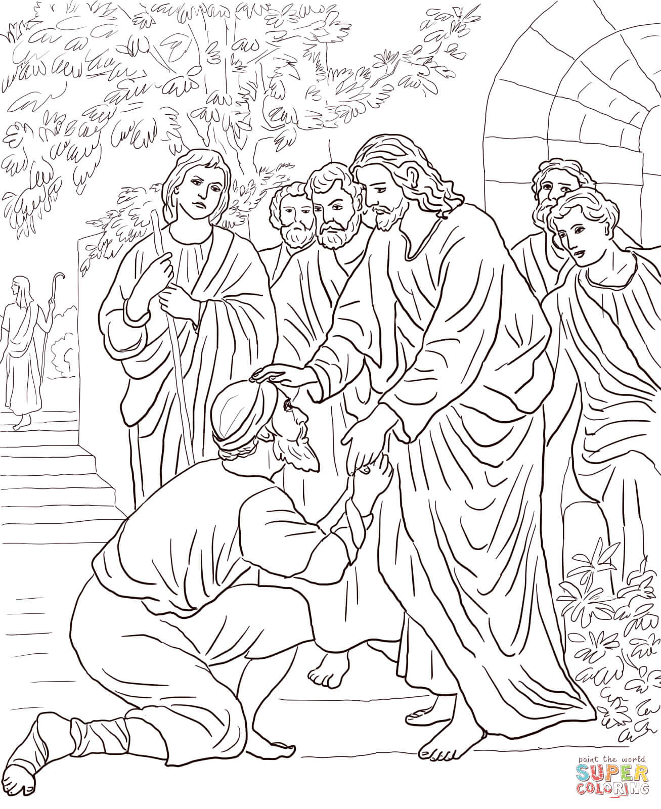 Jesus Heals The Leper Coloring Page Coloring Pages