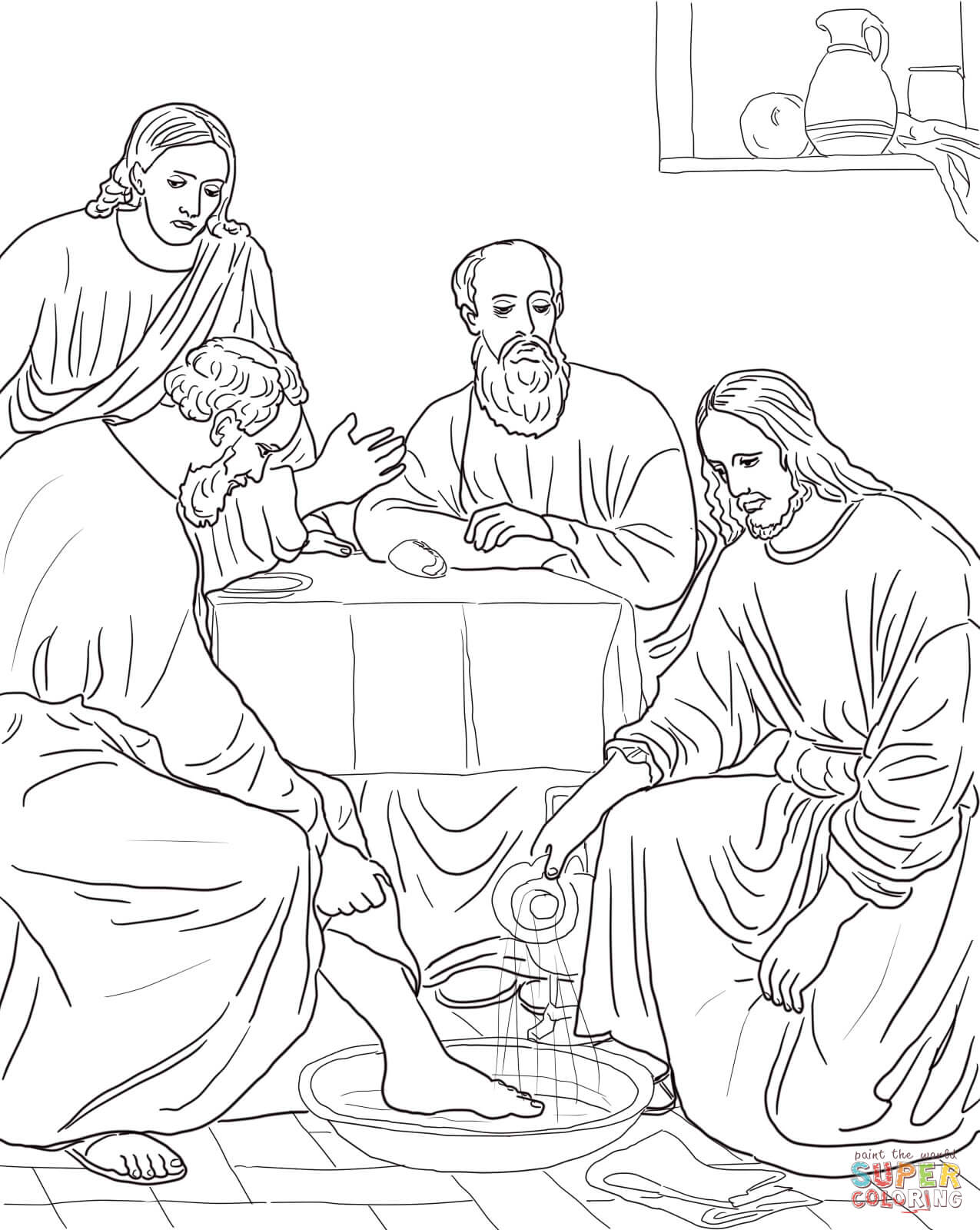 Coloring Pictures Of The Disciples Coloring Pages