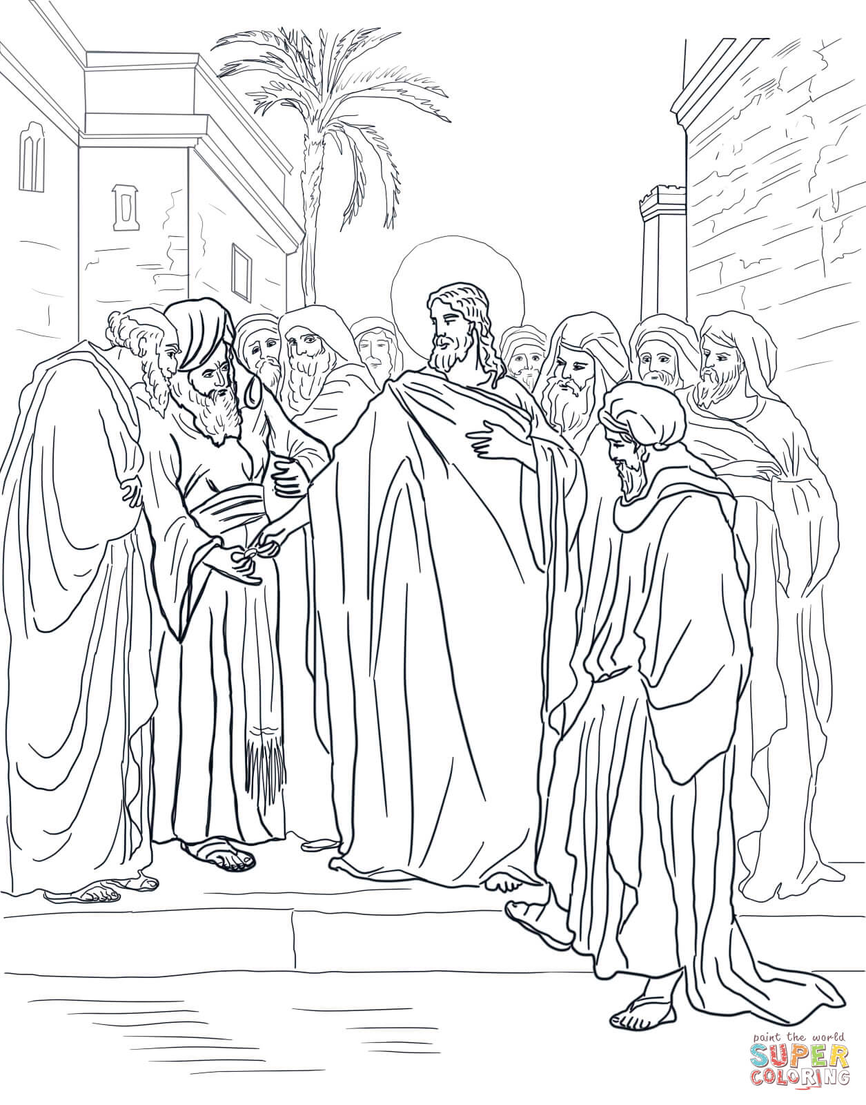 Pharisees Pages Coloring Pages