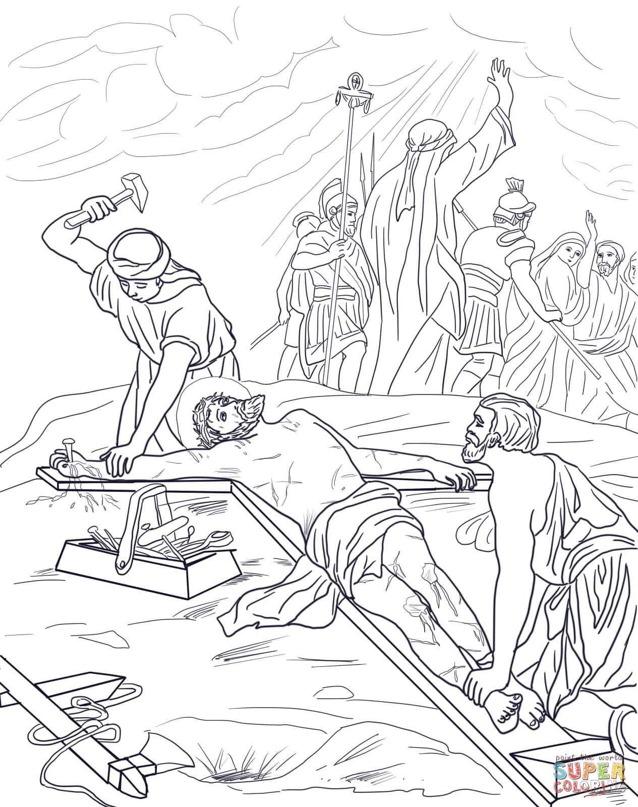 Catholic Stations Of The Cross Coloring Pages Sketch