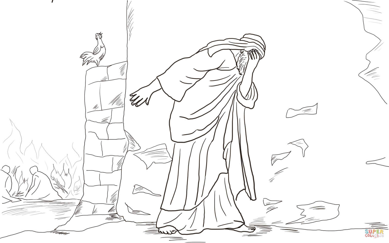Peter And Jesus Coloring Page Coloring Pages