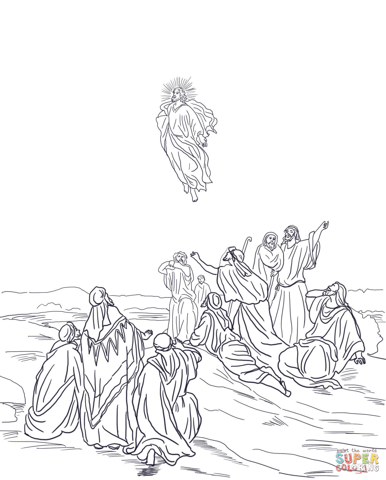 Gates Into Heaven Coloring Page Coloring Pages
