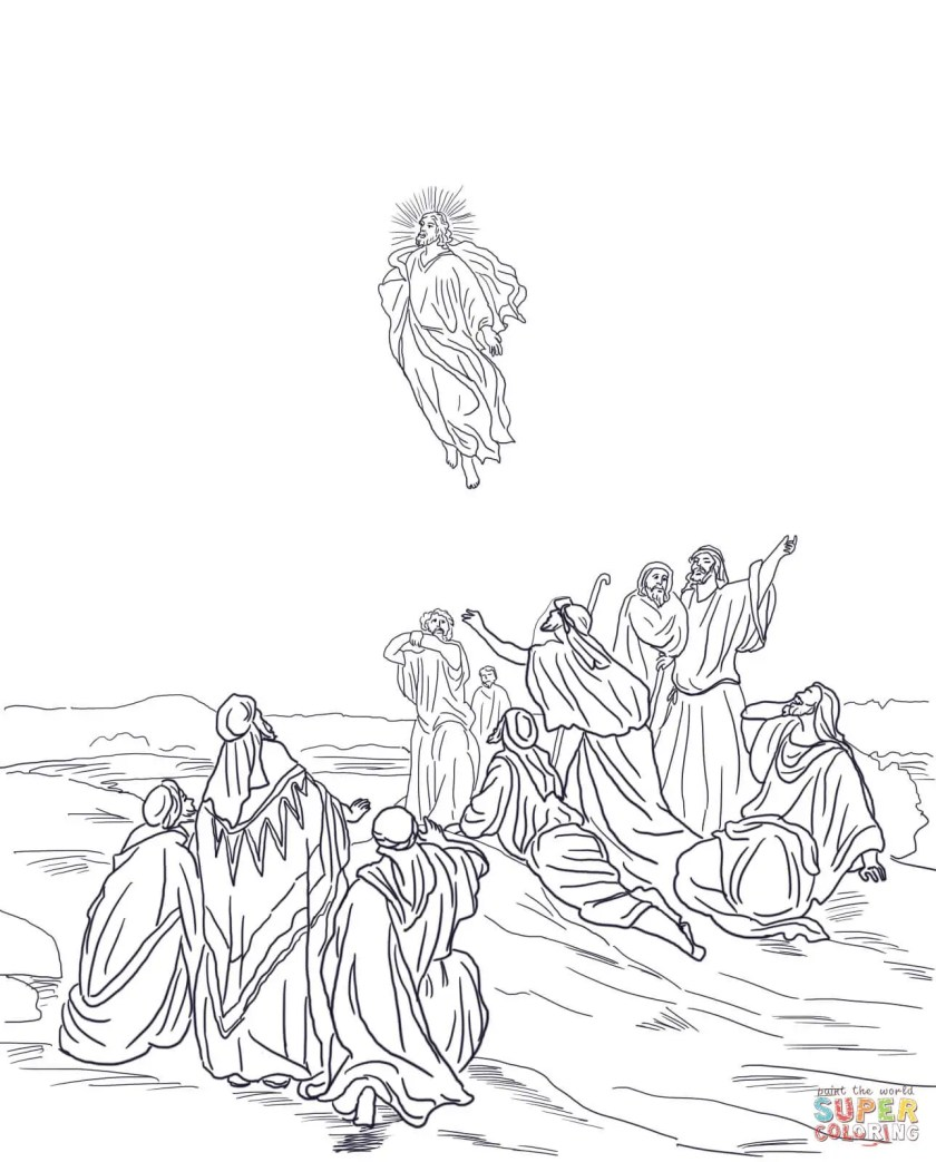 jesus ascending to heaven coloring  driverlayer search engine