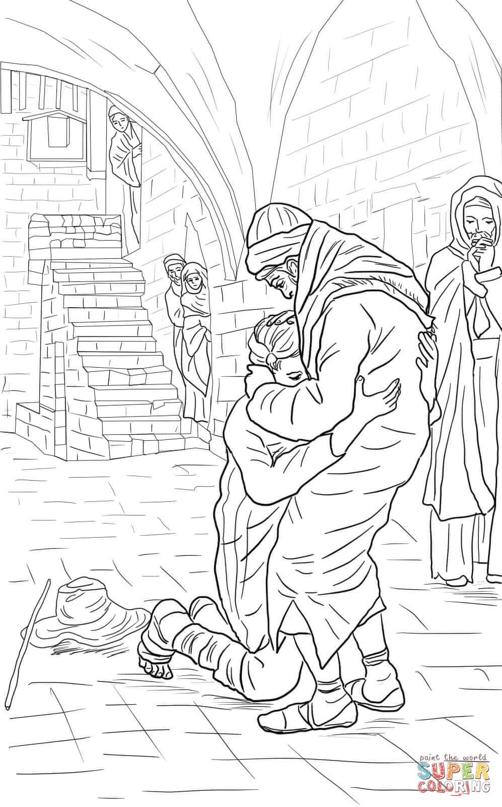 The Return of the Prodigal Son Coloring Online