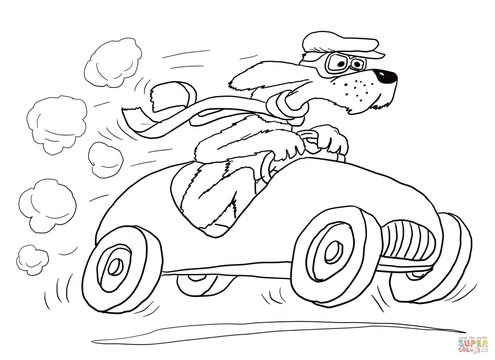 Go Cart Coloring Sheets Coloring Pages