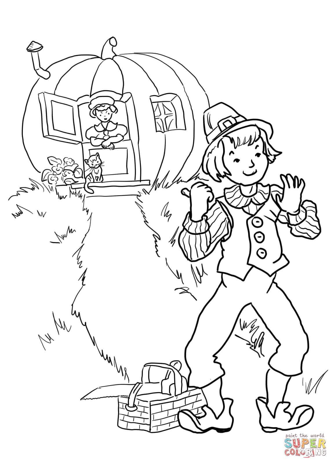 Nursery Rhyme Coloring Page