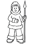 Eskimo Meets First Explorers of North America coloring