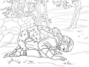 Elijah Prays for the Widow's Son coloring page