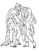 Jonathan and David Friendship Coloring page