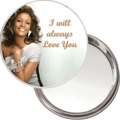 Dispenser Kitchen Coffee Themed Items Compact Makeup Button Mirror With Whitney Houston Image I ...