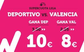 Supercuota Wanabet la Liga Deportivo - Valencia