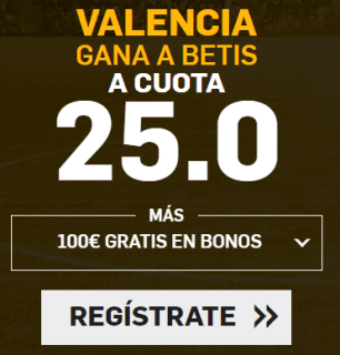 Supercuota Betfair la Liga Valencia - Betis