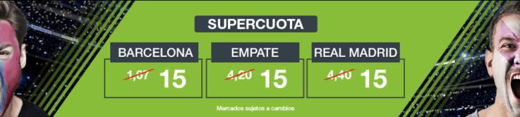 Supercuotas Codere EL Clásico FC Barcelona - Real Madrid