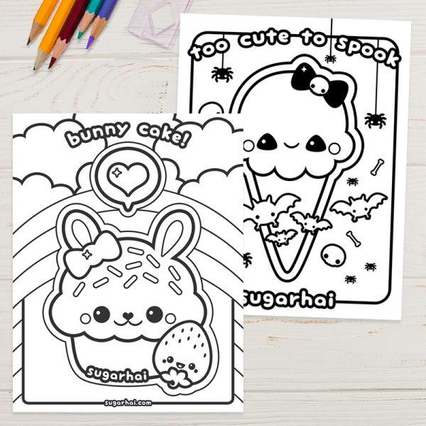Free Kawaii Colouring Pages And Printables Super Cute Kawaii