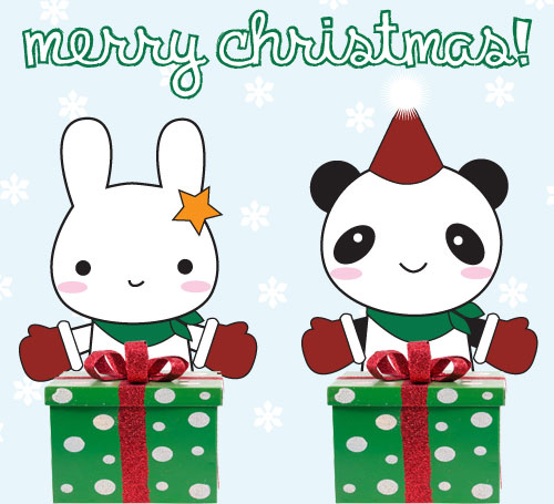 merry christmas - super cute kawaii
