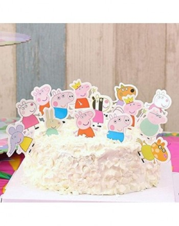 48pcs Peppa Pig Cupcake Toppers Party Decorative Cupcake Topper For Kids Birthday Party Baby Shower Cb1880aza8c