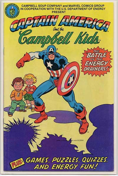 Captain America and the Campbell Kids! Superdickery
