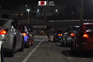 Pilotos Alinhados com seus carros para os treinos do Super Drift Brasil