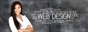 Young woman who works as a web designer (design)