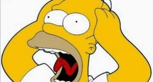 Homer Simpson having a meltdown