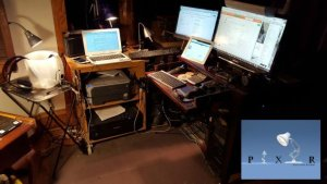 mitch rezmans home office with lots of computer and device screens