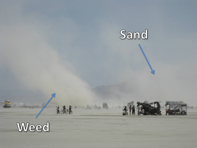 Playa Sand and Weed Smoke