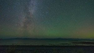 Milky Way over Cook Inlet