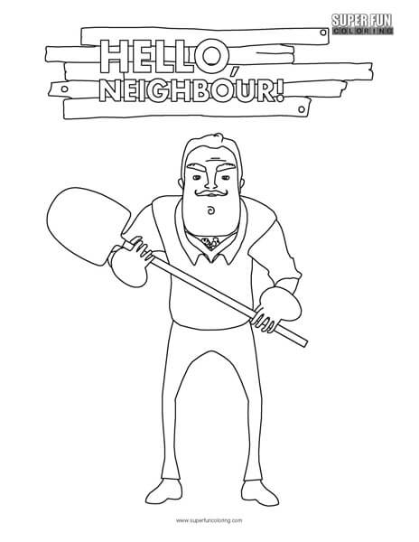 Hello neighbor pictures to color