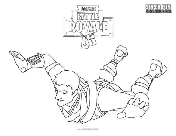 Ninja Fortnite Skin Coloring Sheet