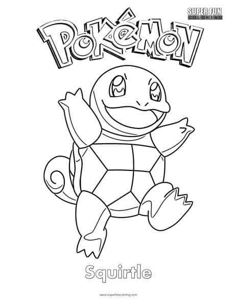 squirtle coloring pages # 4