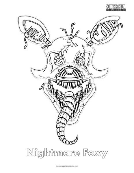 Nightmare Foxy Coloring Coloring Pages