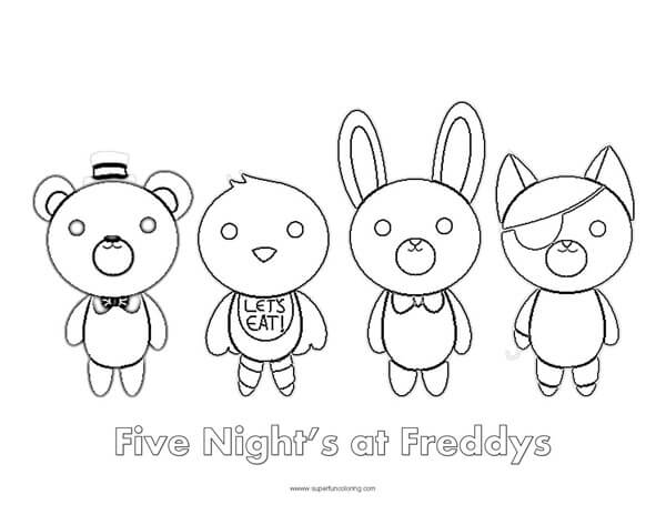 Fun Time Freddy Coloring Pages