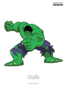 Hulk Coloring Page - Super Fun