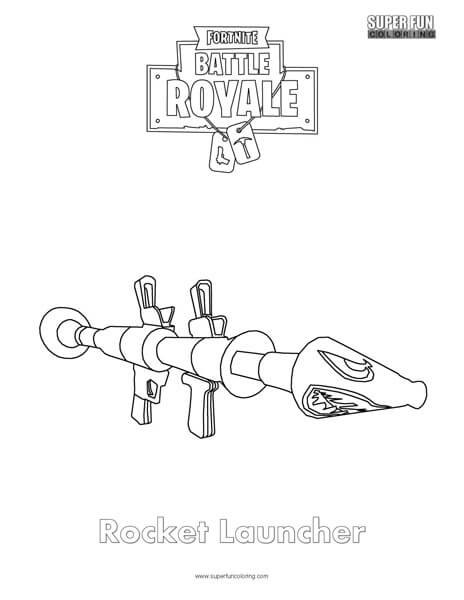 Fortnite Guns Coloring Pages