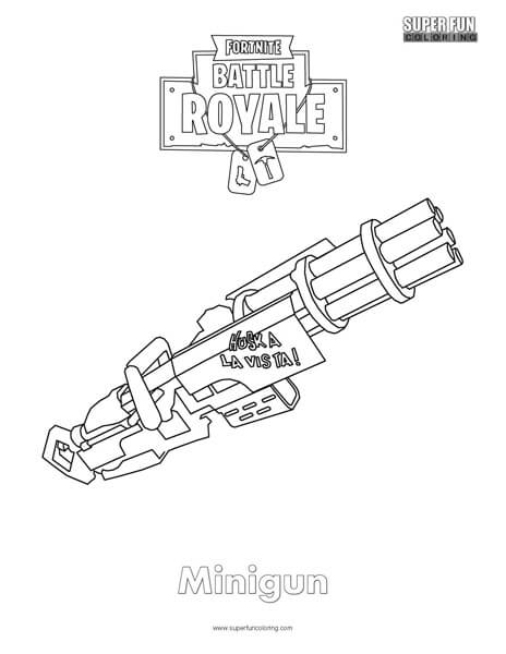 Fortnite Logo Coloring Page