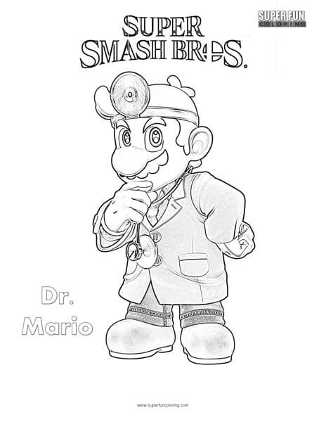 Super Smash Bros Ultimate Mario Coloring Pages