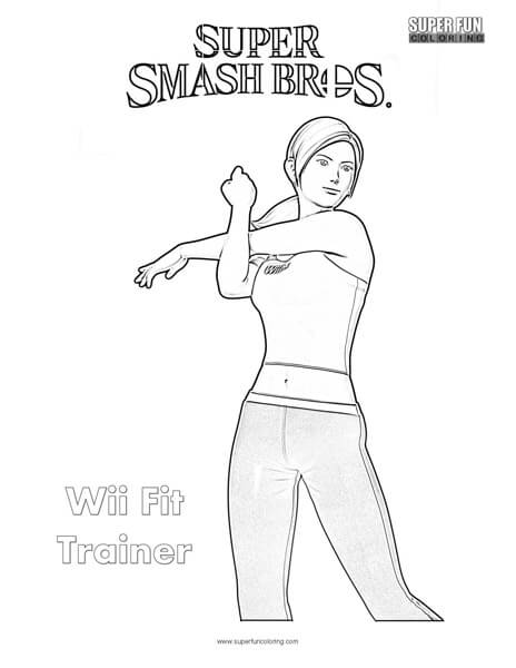 Wii Fit Trainer- Super Smash Brothers Coloring Page