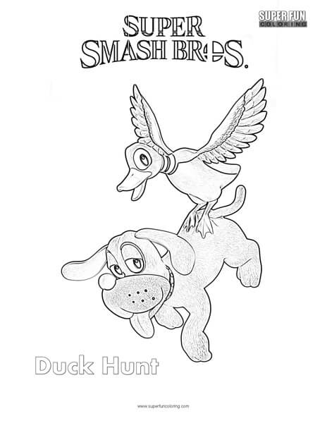 Duck Hunt- Super Smash Brothers Ultimate Coloring Page