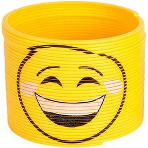 Emoji Slinky Toy  Cry Laughing Smiley  Kids Novelty Gift