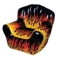 Inflatable Flame Chair | Party Novelty Inflatables