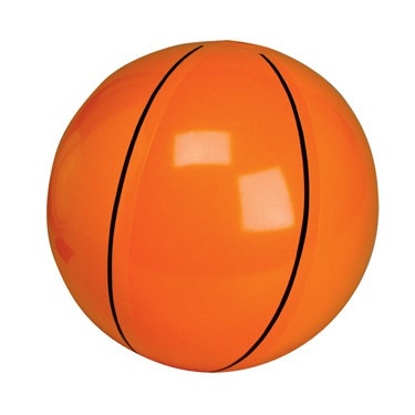 Inflatable Basketball Beach Ball  Blow Up Sports Toy