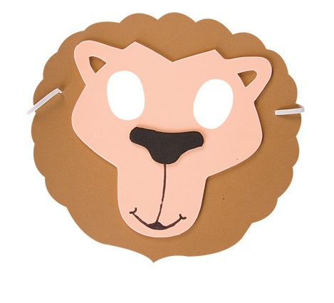 Foam Lion Mask  Animal Fancy Dress Headgear