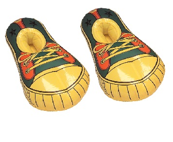 Inflatable American Shoes Blow Up Novelties Fancy Dress