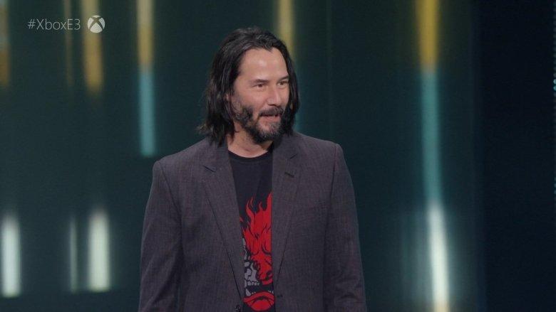 Keanu Reeves at Xbox E3 2019 Briefing