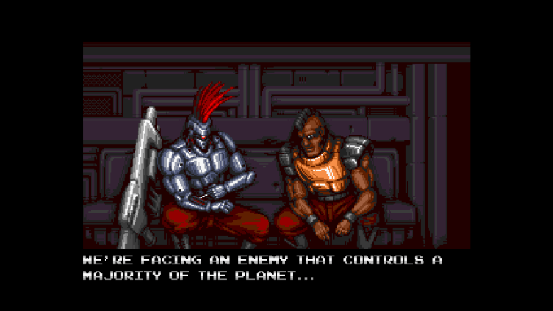 Blazing Chrome Doyle Talking to Soldier